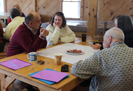 small group discussion at the Spiritual Life Retreat